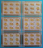 TIMBRE ROMANIA -2006 L.P.1710 a ISTORIA MONEDEI ROMANESTI - monede de aur MNH**, Nestampilat