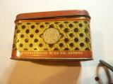 Cutie veche din tabla pt. ceai gruzin cal. I ,dim.= 8,3x5,7x5cm
