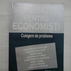 MATEMATICI PENTRU ECONOMISTI Culegere de probleme - Gherghe CENUSA si altii
