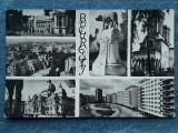 347 - Bucuresti - Vedere multipla mozaic/ Lupoaica / cp RPR carton usor ondulat, Necirculata, Fotografie