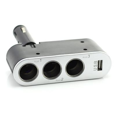 Priza tripla pentru bricheta auto + USB 1A Best CarHome foto