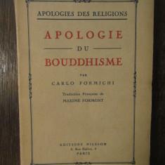 Apologie du bouddhisme-Carlo Formichi