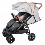 Carucior de gemeni Enzo Twin grey Coletto for Your BabyKids