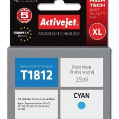 Cartus compatibil T1812 cyan pentru Epson C13T18124010, Premium Activejet, Garantie 5 ani