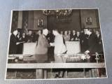 Fotografie 13x18 cm, maresal Jukov, Barladeanu, Gheorghiu Dej, Chivu Stoica