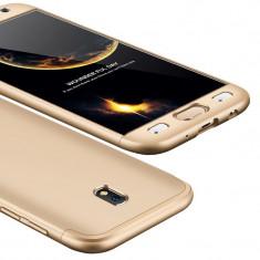 Husa 360 Full Body Fata Spate Samsung Galaxy J5 2017 J530 golden
