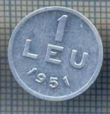 AX 794 MONEDA- ROMANIA - 1 LEU -ANUL 1951 -STAREA CARE SE VEDE