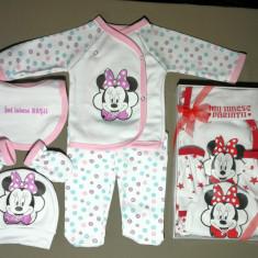 Set 5 piese pentru bebe Mini Mouse, fabricat în România - rosu