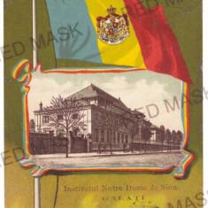 4854 - GALATI, Royalty Flag, stampila de vapor - old postcard - used - 1904