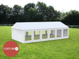 3X12 M CORT EVENIMENTE PROFESIONAL ECONOMY, PVC 500 g/m² ALB