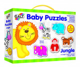 Baby Puzzle: Animale din jungla (2 piese) PlayLearn Toys, Galt
