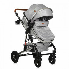 Carucior transformabil 3 in 1, Alba, cos auto inclus, Light Grey
