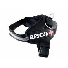 Ham pentru câini Rescue L 65 - 80 cm, negru