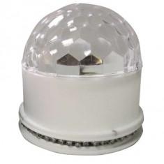 Efect ufo astro LED RGB 3W cu bluetooth si difuzor incorporat - alb