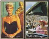 Niger, Lady Diana, printesa de Wales, lot 2 colite, 1997, MNH