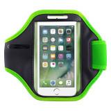 Husa ArmBand tip banderola brat pentru fitness, Iphone 7, verde, Gonga