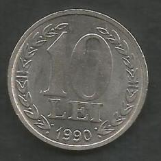 ROMANIA   10  LEI  1990    [1]   XF  ,   livrare  in cartonas, Fier