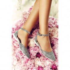 Sandale dama din piele naturala Alexis Argintii