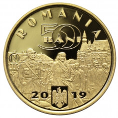 50 bani 2019 Moneda proof BNR Regele Ferdinand