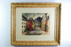 Tablou pictura Sorin Ionescu - Strada din Sighisoara '62 foto