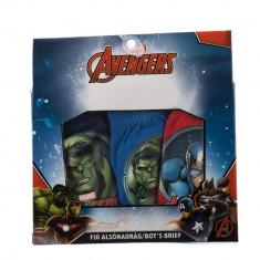 Set 3 perechi chiloti baieti Avengers navy, albastri, rosii