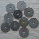 Lot 10 monede 5 bani 1906