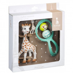 Set cadou Vulli Girafa Sophie, zornaitoare Swing si breloc