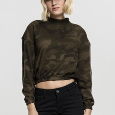 Ladies Camo Turtleneck Crew