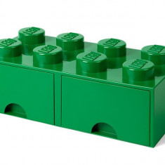 Cutie depozitare LEGO 2x4 cu sertare - Verde (40061734)