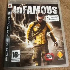 Joc Infamous, PS3, original, alte sute de jocuri!, Shooting, 18+, Single player, Sony