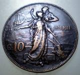 F.514 ITALIA VITTORIO EMANUELE III 50 ANI ANIVERSARE REGAT 10 CENTESIMI 1911 R, Europa, Cupru (arama)