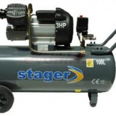 Compresor de aer Stager HM3100V, 3 CP, 100 L, 8 BAR
