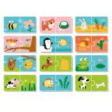 Puzzle Duo Hrana animalelor Dodo, 2 piese, 3 ani+