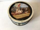 Cutie veche tabla vintage cu castelul Peles, Rowntree Mackintosh Ltd England