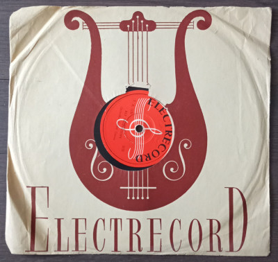 """Disc ebonita 10"""" vechi - Teodor Cosma-Auf Wiedersehn/Jean Ionescu-Mambo Italiano foto"""