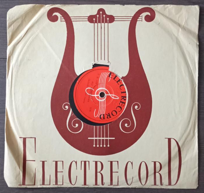 """Disc ebonita 10"""" vechi - Teodor Cosma-Auf Wiedersehn/Jean Ionescu-Mambo Italiano"""