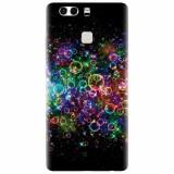 Husa silicon pentru Huawei P9, Rainbow Colored Soap Bubbles