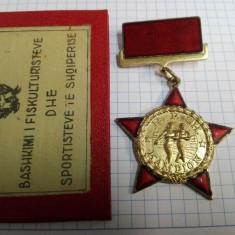 Albania 1959 - Medalie campion national, cu legitimatie