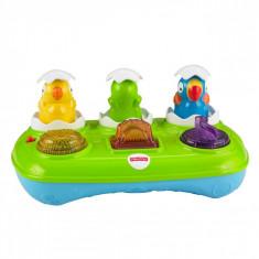 Jucarie interactiva bebelusi, model oua muzicale cu lumini, multicolor