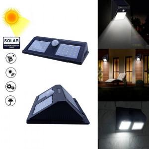 Lampa solara cu senzor de miscare YH818, 40 x LED, Negru