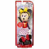 Papusa Minnie Mouse cu fundita galbena, 24 cm