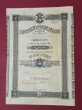 Actiuni 1922 Soc. Cailor ferate particulare - CFR - titlu