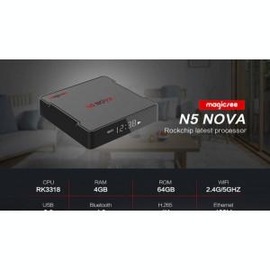 TV Box Mini PC Magicsee N5 Nova 4K,Quad Core 64bit,4gb RAM,64gb ROM,Android9,Nou