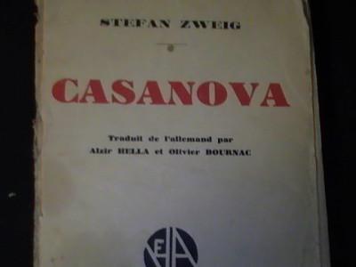 CASANOVA- STEFAN ZWEIG-TRAD. ALZIR BELLA- IN FRANCEZA- foto