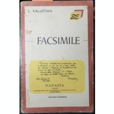KALUSTIAN L. (DEDICATIE SI AUTOGRAF!) - FACSIMILE, KALUSTIAN L. (DEDICATIE SI AUTOGRAF!)