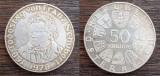 (A133) MONEDA DIN ARGINT AUSTRIA - 50 SCHILLING 1978, FRANZ SCHUBERT, KM#2937, Europa