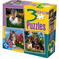 3 Puzzle Animale