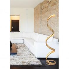 Lampadar LED Firenze - otel auriu foto
