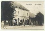 cp Halmagiu : Strada Principala - circulata 1939, timbru