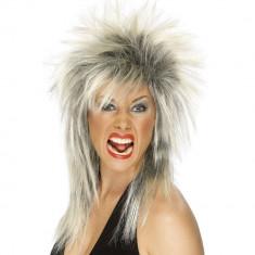 Peruca Rock Diva Blonda - Carnaval24